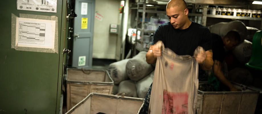 Cleaning Laundry Onboard
